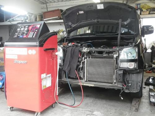 エアコン修理・ATF交換ばかりじゃなく修理工場らしい仕事