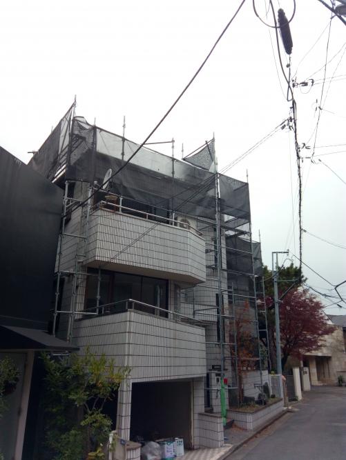 渋谷区某所屋根の塗装工事