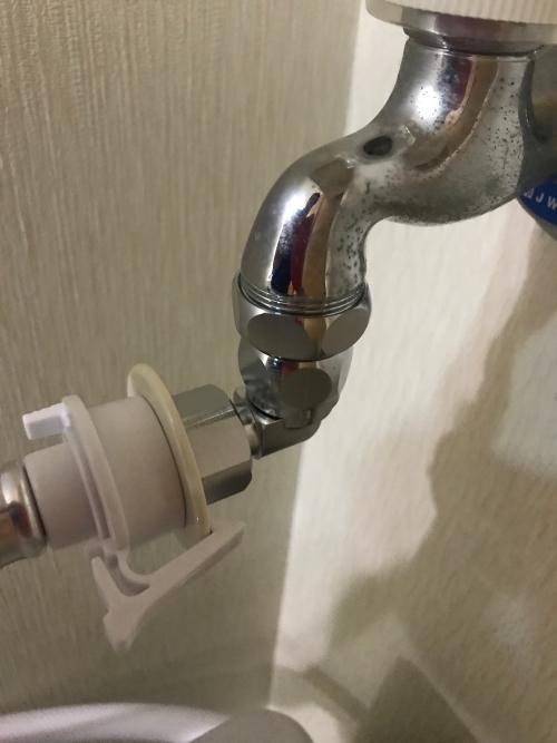 越谷市にて水道修理実施。