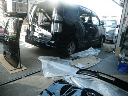 VOXYサンバー修理ミラcocoa車検ファンカーゴRECS
