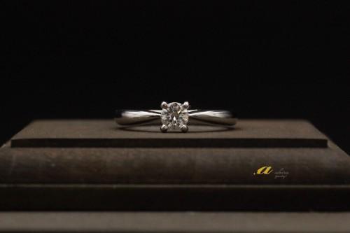 習志野市からお越しのお客様、婚約指輪のご注文でした