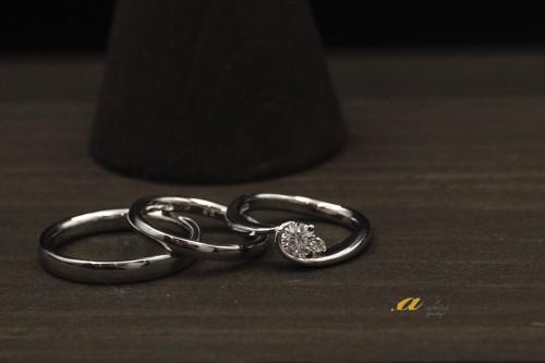 市川市からお越しのお客様は結婚指輪と婚約指輪のご注文でした