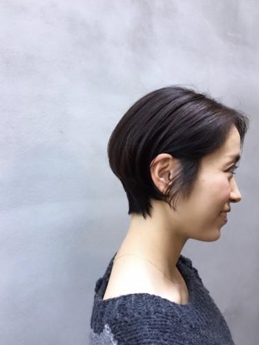 シンプル ショートヘア 横顔美人に 代官山 美容室