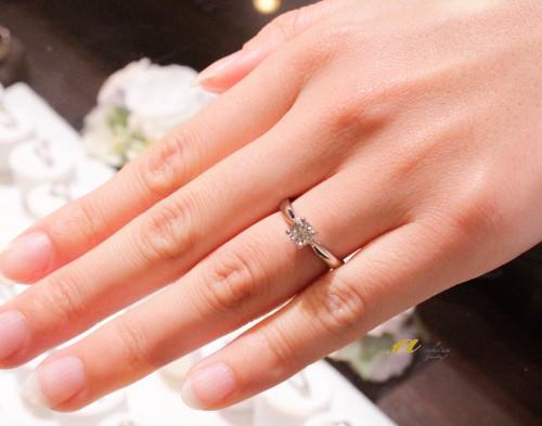 想いの詰まった婚約指輪