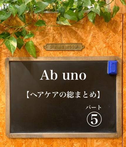 アブウーノのまとめ⑤【ヘアケアの総まとめ】