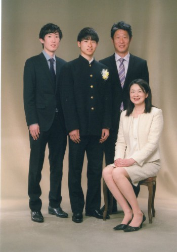家族写真:卒業式:楽しかった!折々に~有り難う!