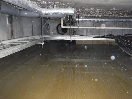 多摩市で地下ピットの雨漏りを調査