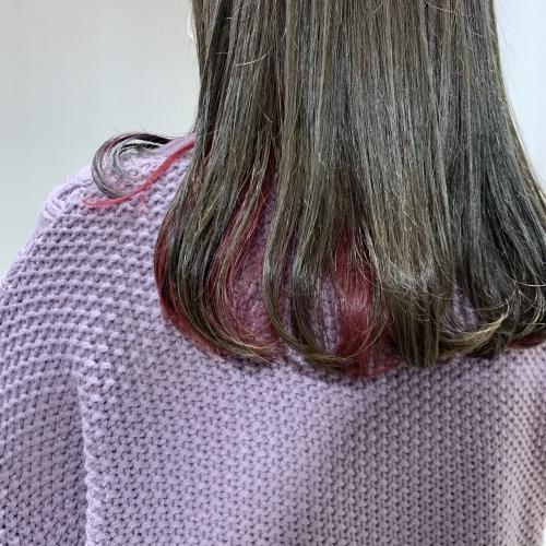 インナーカラー×チェリーピンク 調布美容室