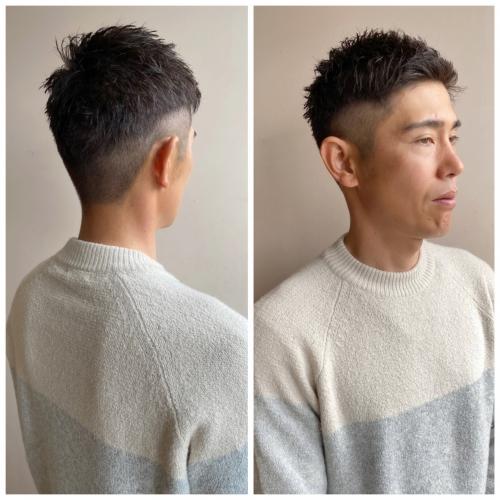 メンズカット 男性 髪型 刈り上げ ツーブロ