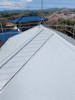 屋根遮熱塗装工事を施工致しました