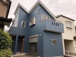 日高市でサイディング塗装工事が完了しました
