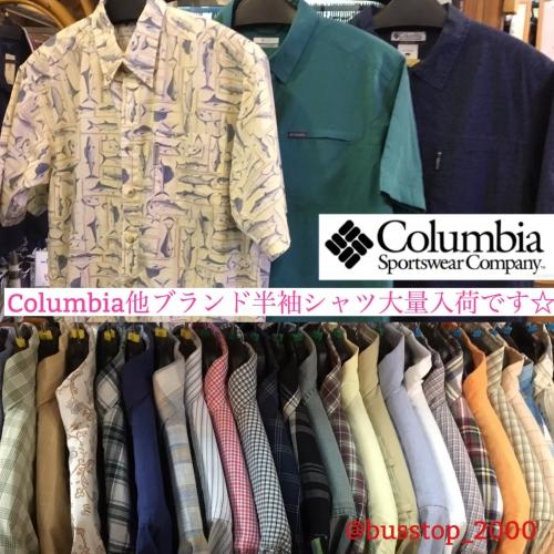 Columbia他メンズブランド半袖シャツ入荷です!
