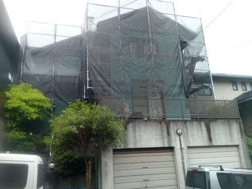 横浜市都筑区某所塗装工事