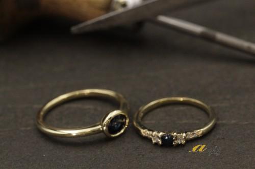 不用になった指輪でファッションリングにリフォーム