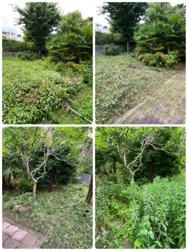 日野市の庭管理で刈り払い作業は八王子市便利屋さん
