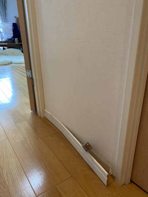 東京都荒川区町屋 幅木の修繕リフォーム工事