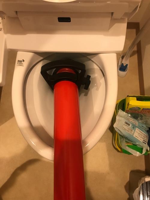 さいたま市にてトイレつまり修理実施。