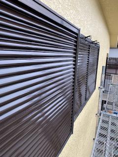鶴ケ島市で雨戸の塗装工事を施工してきました