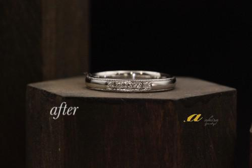 結婚指輪のリフォームを致しました