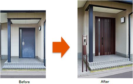相模原市の玄関ドアカバー工法は安心施工のマルセイテックへ