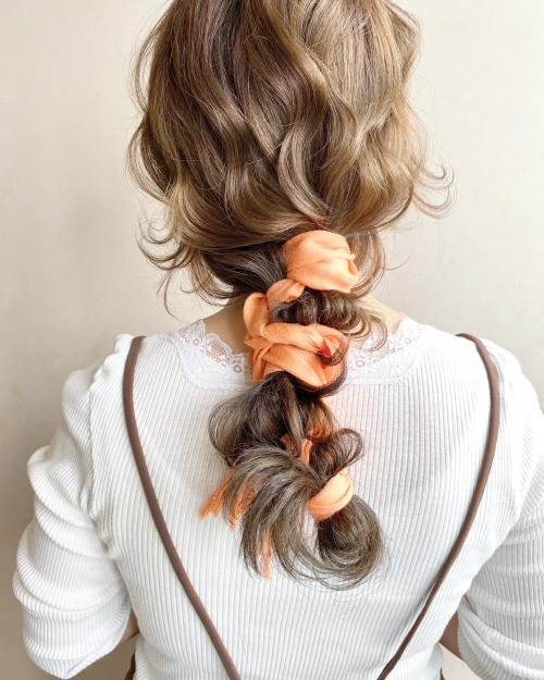 編みおろしアレンジスタイル