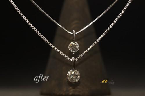 おばあ様の形見のダイヤモンドを使って娘さんへプレゼント