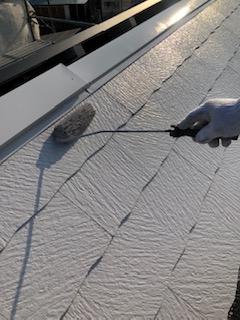 屋根の遮熱塗装工事を施工してきました