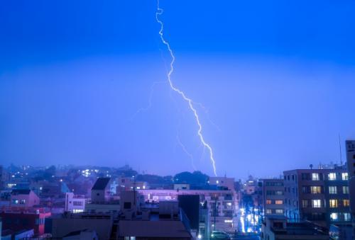 台風シーズンです。