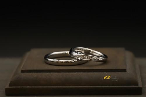 鍛造の結婚指輪を御納品いたしました市原市からご来店