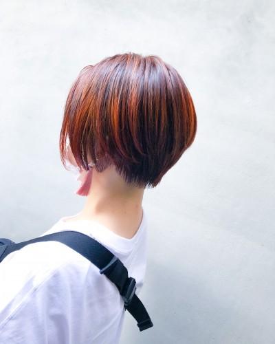 代官山美容室 ショート得意 ハイライト デザインカラー