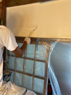 川越市で内装壁の塗装工事を施工しました