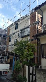 鶴ケ島市で仮設足場工事が完了しました