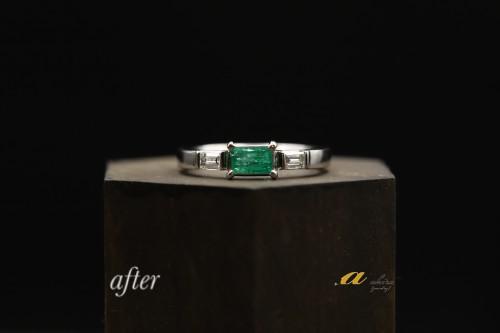 祖母のエメラルドの指輪を普段使いにリフォーム