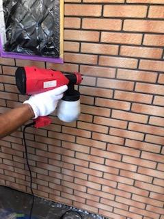 外壁タイル防藻・カビ止め防止剤を施工しました