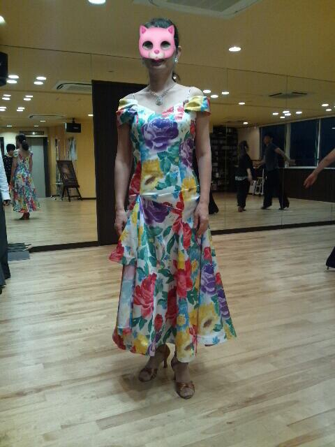 花柄ドレス「社交ダンス」