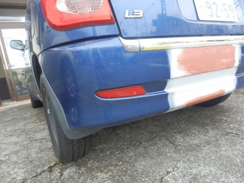 代車のバンパー修理&塗装